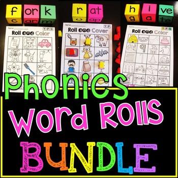 Phonics Games Word Rolls with Dice MEGA BUNDLE