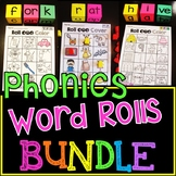 Phonics Games Word Rolls with Dice MEGA Growing BUNDLE