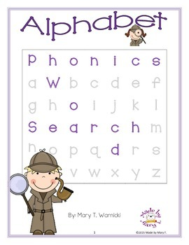 Phonics Word Search: Alphabet