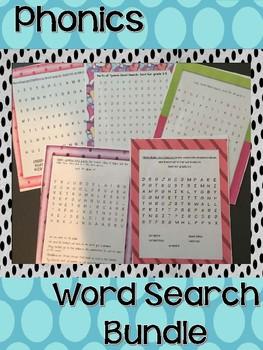 Phonics Word Search Bundle