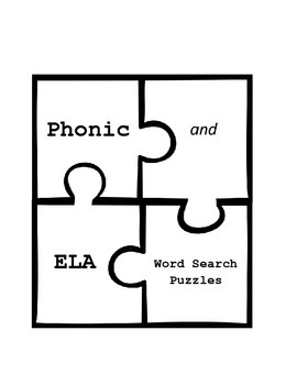 Phonics Word Search Puzzles
