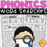 Phonics Word Search Differentiated Puzzles ~ CVC, digraphs, blends and more!