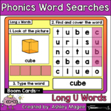 Phonics Word Search & Type - Long U Boom Cards Distance Le