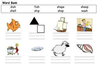 PHONICS - Learning New Words with Pictures, Spelling Practice and Word Search