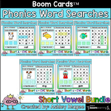 Phonics Word Search and Type - Short Vowels Boom Cards Dis