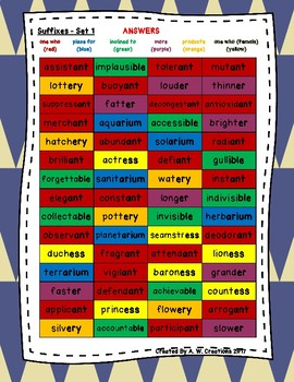 Phonics Word Searches (Set of 4) - Suffixes