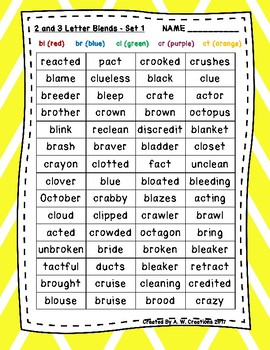 Phonics Word Searches (Set of 8) - 2 and 3 Letter Blends