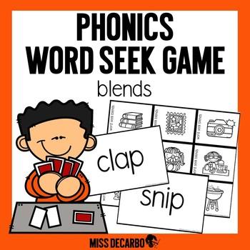Phonics Word Seek Game Blends