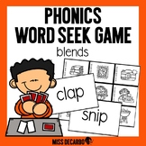 Phonics Word Seek Game Blends
