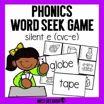 Phonics Word Seek Game CVC-E Words