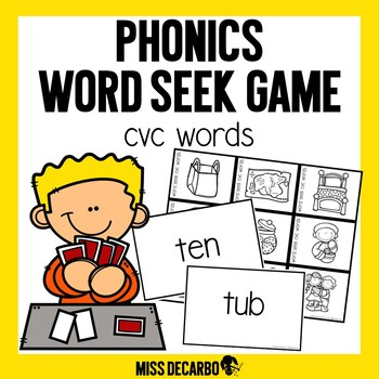 Phonics Word Seek Game CVC Words