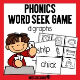 Phonics Word Seek Game Digraphs