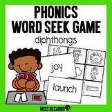 Phonics Word Seek Game Diphthongs