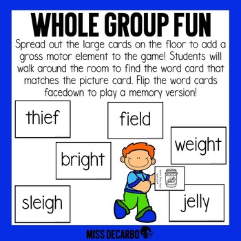Phonics Word Seek Game Other Long Vowels