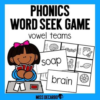 Phonics Word Seek Game Vowel Teams