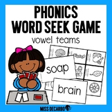Phonics Word Seek Game Vowel Teams