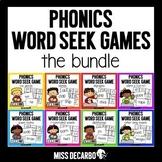 Phonics Word Seek Games BUNDLE