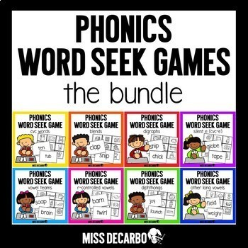 Phonics Word Seek Games BUNDLE
