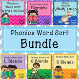 Phonics- Vowel pairs, Digraphs, R, L, and S Blends, Word Families, Bossy R