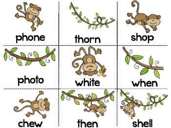 Phonics Word Sort - Digraphs