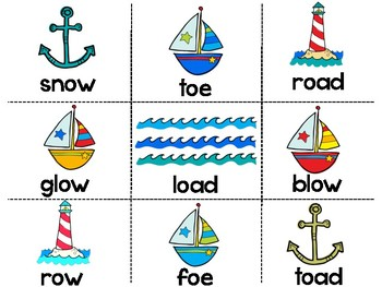 Phonics Word Sort - OA, OE, OW