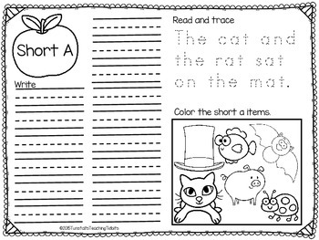 Phonics Word Sort Recording Forms