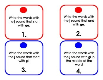 Phonics Word Sort Task Cards - /s/ and /j/ sound