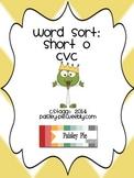 PHONICS: Word Sort PRINTABLE Station Activity- cvc short o, & initial blend sort