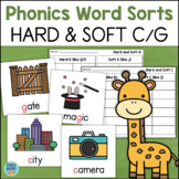 Hard and Soft C and G WORD SORTS Literacy Center