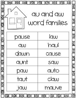 Phonics Word Sorts
