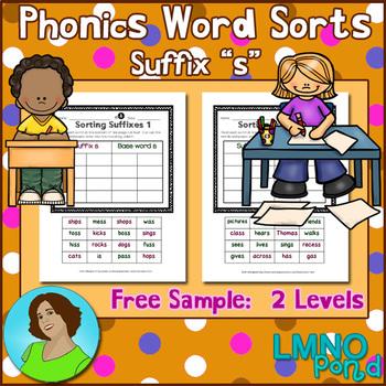 Phonics Word Sorts 2 Levels:  Suffix s {Free Sample}