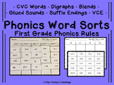 Word Sorts For 1st Grade Worksheets & Teaching Resources | TpT