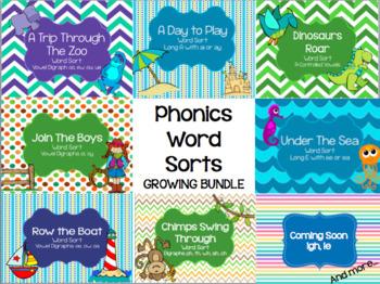 Phonics Word Sorts GROWING BUNDLE