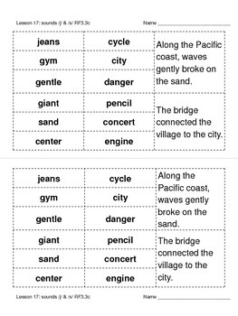 RF3.3c Phonics Word Sorts for use with Journeys Unit 4 3rd Grade