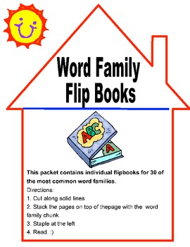Word Family -30 Word Family Flip Books