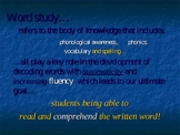 Phonics Word Study Power Point Presentation