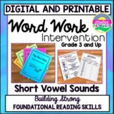 Phonics Intervention-SHORT VOWELS-Independent Work and Dis