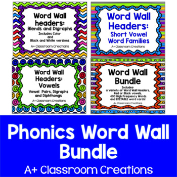 Phonics Word Wall Bundle