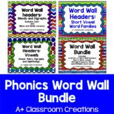 Phonics Word Wall Bundle