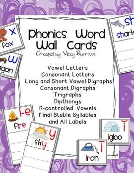Phonics Word Wall Cards