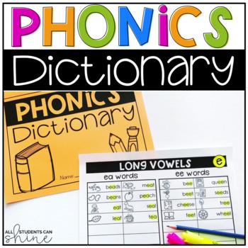Phonics Word Wall & Student Dictionary BUNDLE