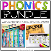 Phonics Word Wall & Student Dictionary BUNDLE