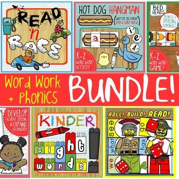 Phonics + Word Work Bundle: Games & Centers