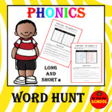 Phonics Word Work CVC and CVCe short and long a vowel