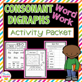 Consonant Digraphs Word Work Activity Packet-NO PREP Worksheets
