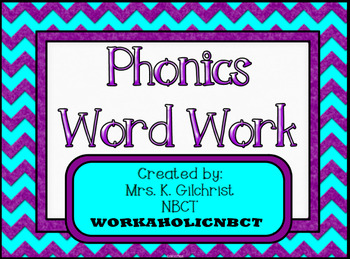 Phonics Word Work - ELA Practice - SMART Notebook - Smartboard Lesson