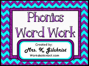 Phonics Word Work Promethean ActivInspire Flipchart Lesson