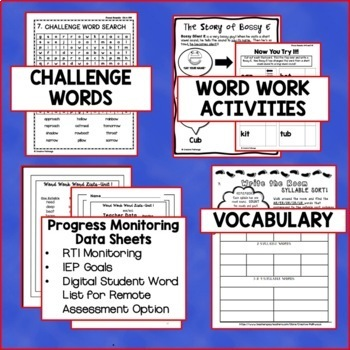 Special Education Reading Intervention,Word Work Third Grade, Silent-E