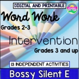 Special Education Reading Intervention-Silent-E-Independen