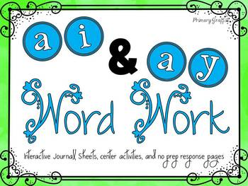 Phonics Word Work {ai, ay}